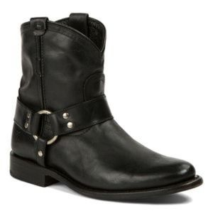 Frye Wyatt Harness Leather Short Boot 72370 Black